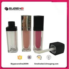 lipstick shape square plastic lip gloss container