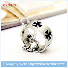 Vente en gros bijoux prix métal O anneau en acier inoxydable au rhodium titane