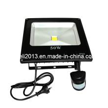 Luz de inundação ao ar livre Sensor de movimento PIR 50W IP65
