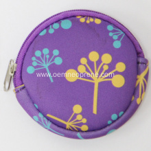 New Arrival China for Cosmetic Power Case Wholesale Customized Round Neoprene Purse Bags export to Japan Importers