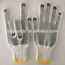The china supplyer of the PVC dotts cotton knitted working gloves