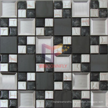 European Modern Style Wall Decoration Glass Mix Metal Mosaic (CFM941)