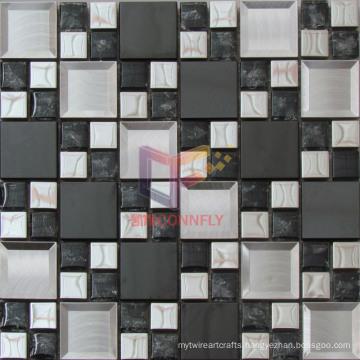 European Modern Style Wall Decoration Glass Mix Metal Mosaic (CFM941)