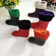 Barato Transparente PVC jardín botas de lluvia para los niños, Boot with Warmer Liner