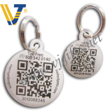 Stainless Iron Unique Qr Code Pet ID Tag