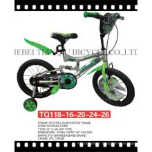 """12 """"bicicleta colorida das crianças com tampa Chain cheia de aço"""