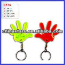 Billiges doppeltes reflektierendes PVC Keychain