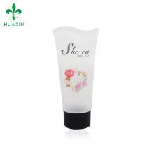 Tubo transparente de plástico cosmético para recipientes de tubos cosméticos para produtos de cuidados da pele
