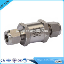 Non return floating oxygen check valve