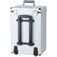 Portable OEM Aluminum Luggage Tool Trolley Case with Wheels and Rod