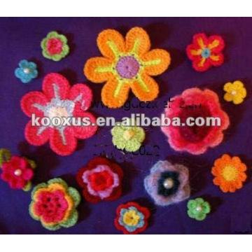 Flores hechas a mano del Crochet