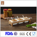 Utensilios de cocina Hierbas decorativas de cerámica y especias con cuchara