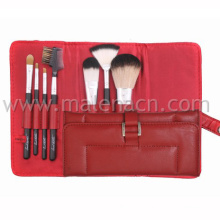 7PCS Makeup Brush with Leather Pouch