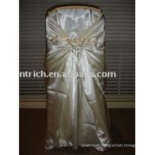 Universal chair cover,satin chair cover,bag/self-tie chair cover