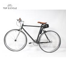 Bicicleta eléctrica de una sola velocidad del marco de acero 700c bici fija del engranaje de la sola velocidad