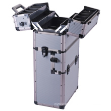 Profession Aluminum Cosmetic Train Case