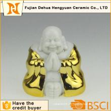 Bañado en oro de cerámica Buda para la decoración del hogar