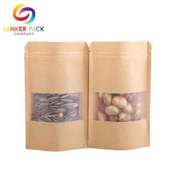 Matt Printed Kraft Paper Ziplock Coffee Bag
