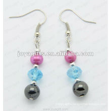 Magnetic Hematite Glass Beads Earrings