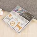 Etiquetas engomadas de destello personalizadas cuerpo del tatuaje de la película del animal doméstico del diseño de la etiqueta engomada, etiquetas engomadas auto-adhesivas del tatuaje del oro
