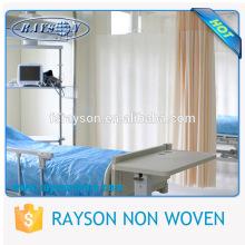 Folha de cama descartável não tecida impermeável macia higiênica médica do sentimento do hospital