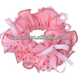2014 fashion polka dot durable elastic hair bands with flowers