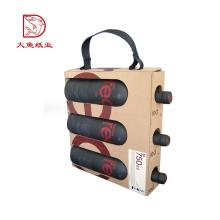En gros personnalisé imprimé portable de luxe 3 bouteille cadeau boîte à vin