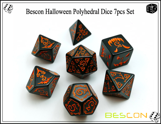 Bescon Halloween Polyhedral Dice 7pcs Set-5