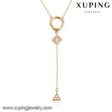 43894 colar de moda 2017 venda quente africano 18 k liga de cobre colar de jóias