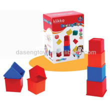 kids 12 in 1 plastic intelligence stacking cups teach toy set