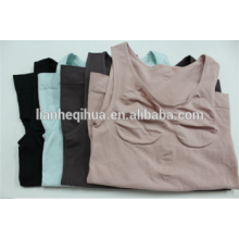 Camisola sem mangas sem emenda das mulheres camisetas Camisola sem mangas sem mangas