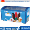 Mini Display Freezer for Ice Cream 150L with Ce