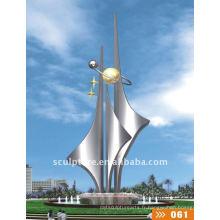 Sculpture nautique sur la fontaine de voile
