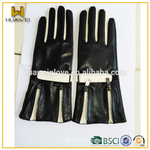 factory customized fashion sheep leather sheel ladies long leather gloves