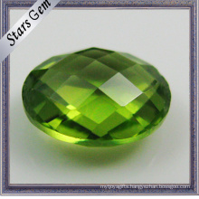 Double Checker Cut Semi-Precious Peridot Stones