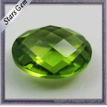 Double Checker Cut Pedras Semi-Precious Peridot