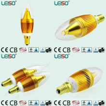 Bougies LED de forme de cadre avec la base E14 et B12