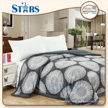 GS-XYFSB001-01 OEM 100% polyester flannel sherpa bed chinese new design blanket