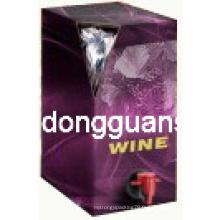Sac d'emballage de vin avec bec / sac en boîte / sac d'emballage en eau