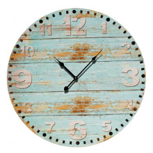 Wooden print derocative clock