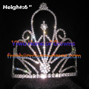 Wholesale Flower Shaped Rhinestone Crowns