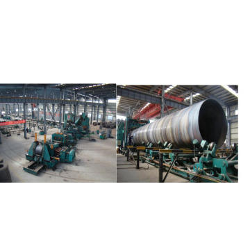 GB Q195 Q235 Q345 ssaw spiral welded steel pipe for oil and gas manufacturing