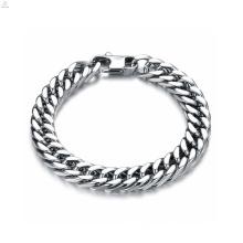 Joyería única tendencias pulsera plata, pulsera de acero inoxidable, pulsera magnética