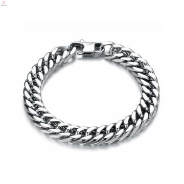 Bracelet de tendances de bijoux uniques argent, bracelet en acier inoxydable, bracelet magnétique