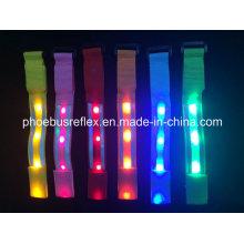 Brazalete reflectante de LED de 5.0cm X 35cm En13356
