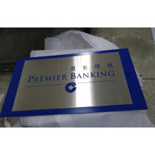 Metal Plate Stainless Steel Silkscreen Advertising Sign