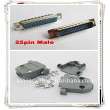 DB25 Соединитель + Плафон крышки для D-Sub 15/25 Pin 2 Rows