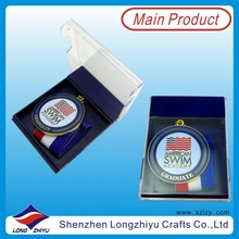 Round Swimming Medal for Academy Graduate Medal with Acrylic Transparent Box (lzy00045)
