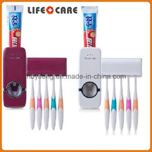 Touch Me Toothpaste Dispenser and Automatic Toothbrush Holder