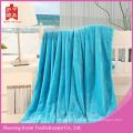 Couverture lourde en flanelle de couleur unie bleu océan
